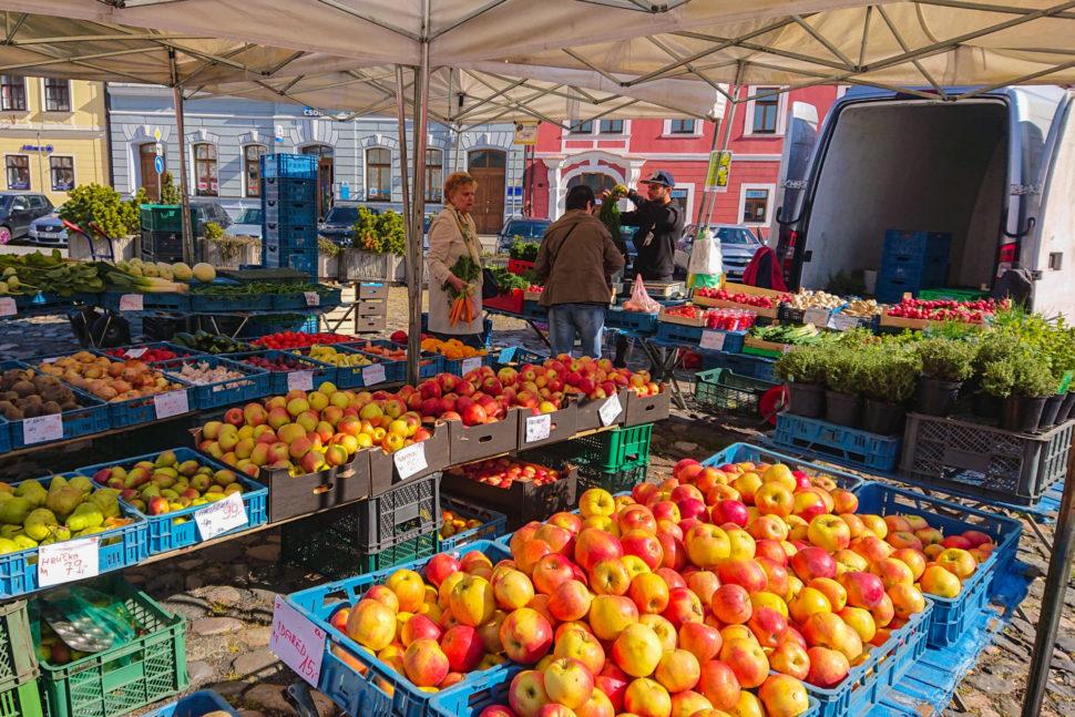 Farmářské trhy vKadani